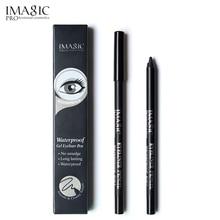 IMAGIC Gel Eyeliner Pencil Retractable Pen 24H Waterproof Shape Makeup Non-smudge Long Lasting Black Eye Liner