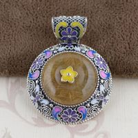S925 Sterling Silver Filigree pendants wholesale Shaolan female crystal pendant craft fine hollowed out styles
