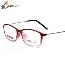 XINZE nuevo cómodo gafas TR90 lupa alta dureza Marco de espejo completo gafas de lectura para Unisex Vintage Leesbril