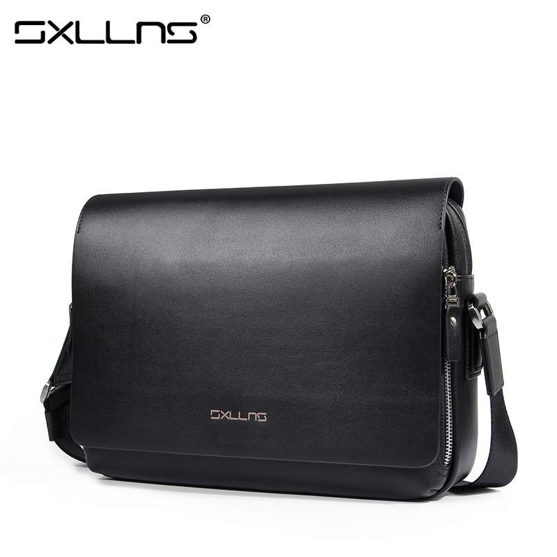 ФОТО Sxllns 2017 Hot Men's Messenger Bag Brand Handbag Men Shoulder Bags Casual Crossbody Bag Vintage Leather Briefcase Free Shipping