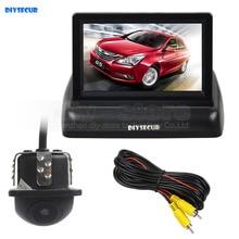 DIYSECUR Wired 4.3 Inch Car Reversing Camera Kit Backup Car Monitor LCD Display Car Rear View Camera Parking System Kit