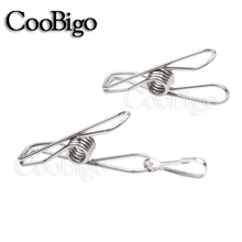 Lanyard Clothes-Clips-Pins Hanging-Hooks Stainless-Steel Camping 1 10pcs 4mm Paracord-Rope
