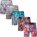 5Pcs/Pack JINSHI Boxer Shorts For Men Bamboo Stretch Waistband Boxer Shorts Male Underpants Man Underwear Pouch Boxer Underpants