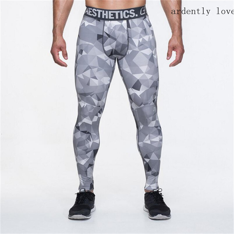2017 Mens Compression Pants Casual Leggings Camouflage Pants Bodybuilder Mens High-Resistant Quick-Dry Joggers Crossfit Skinny