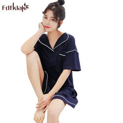 Fdfklak корейский стиль хлопковые пижамы Для женщин короткий рукав Летние пижамы удобные Для женщин пижамы Pijama комплект домашней одежды