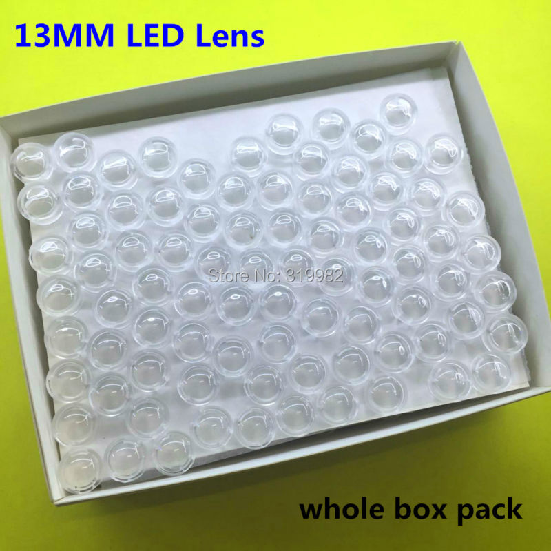 416 pcs whole box 15 30 45 60 90 100 Degree 13mm Mini LED PCB Angle Lens for LED Lamp Convex Lenses 1W 3W 5W High Power Lens