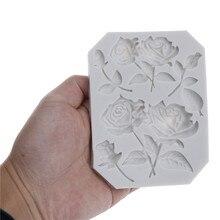 Силиконовая форма в виде цветка розы помадка в форме розы формы шоколад мастика пресс-форм инструменты для украшения тортов из мастики