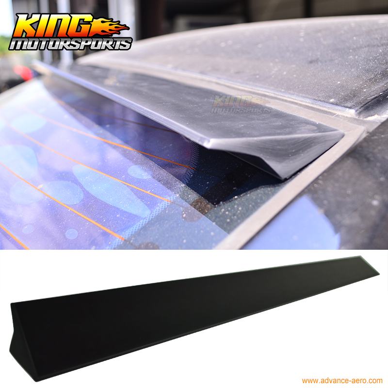 ФОТО For 2004 2005 2006 2007 2008 BMW E63 2Dr VRS Style Roof Spoiler Unpainted Black - PUF