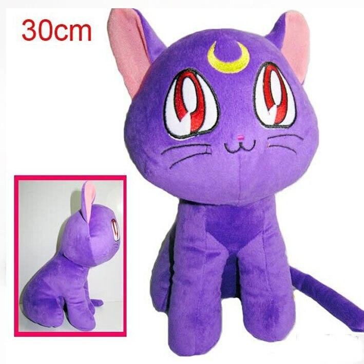 Новые горячие 30 см Сейлор Мун Luna кошка плюшевой Игрушечные лошадки Мягкая кукла Рождество подарок