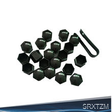 SRXTZM SET OF 20PCS 17mm Chrome WHEEL NUT BOLT COVERS CAPS G
