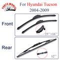 Combo da Borracha de Silicone Lâminas Do Limpador Dianteiro E Traseiro Para Hyundai Tucson 2004-2009 Acessórios Do Carro Brisas