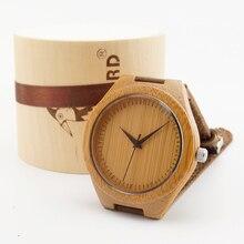 2015 Nueva japonesa miyota 2035 movimiento relojes de pulsera de cuero genuino relojes para hombres y mujeres mejores regalos de madera de bambú