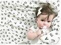 Kids tales Муслин Хлопка Детские Пеленает Для Новорожденных Детские Одеяла Черный & Белый Марля Полотенце CR100