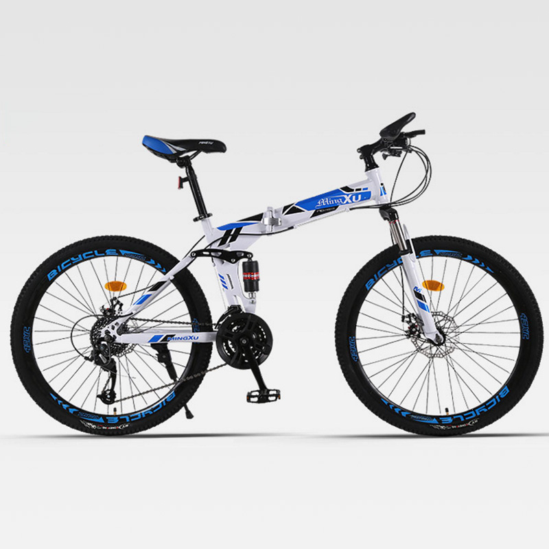Mountain Bicycle Folding Spoke Wheel Double Shock Absorber Adult Cross-Country Men And Women Four Colors Optional