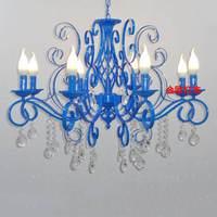 Nordic American Living Room Chandelier European Bedroom Hanging Lamp Mediterranean Pastoral Dining Room Chandelier