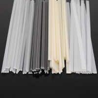 50 Uds. Varillas de soldadura de plástico Reparación de parachoques ABS/PP/PVC/PE palillos de soldadura suministros de soldadura Color gris blanco negro Beige