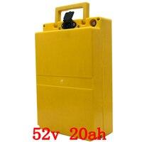 52 V 20AH lithium-ionen batterie 52 V 20AH elektrische fahrrad batterie 52 v 1000 w batterie pack mit Wasserdicht fall und 58 8 V 2A ladegerät