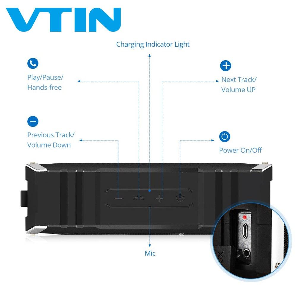 Haut-parleur Bluetooth d'origine VTIN Punker haut-parleurs étanches 20 W haut-parleurs stéréo son Portable haut-parleur extérieur avec Microphone - 2