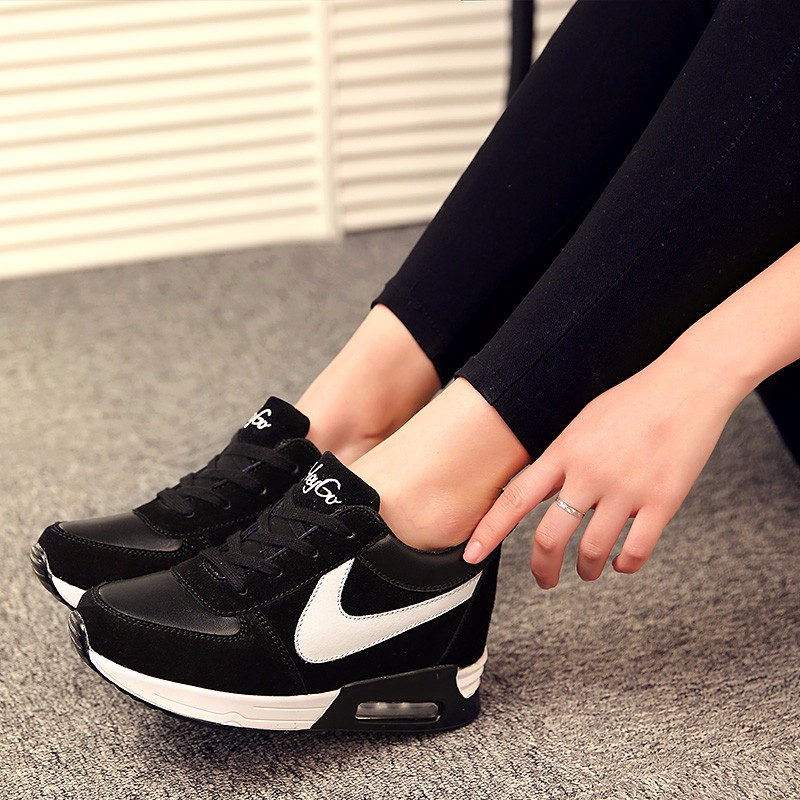 Height Increasing Casual Women Shoes 2016 Fashion Autumn PU Leather High Top Wedges Casual Shoes Lace Up Ladies Shoes YD139 (29)