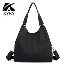 Borsa da donna calda borsa a tracolla grande casual Tote in Nylon marca famosa borse viola mummia Shopping Bag bolsas impermeabile nero