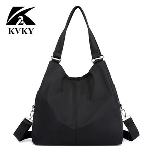 Image 1 - Gorące torebki damskie na co dzień bardzo duże torby na ramię Nylon Tote znane marki fioletowe torebki mumia torby na zakupy wodoodporne bolsas czarne