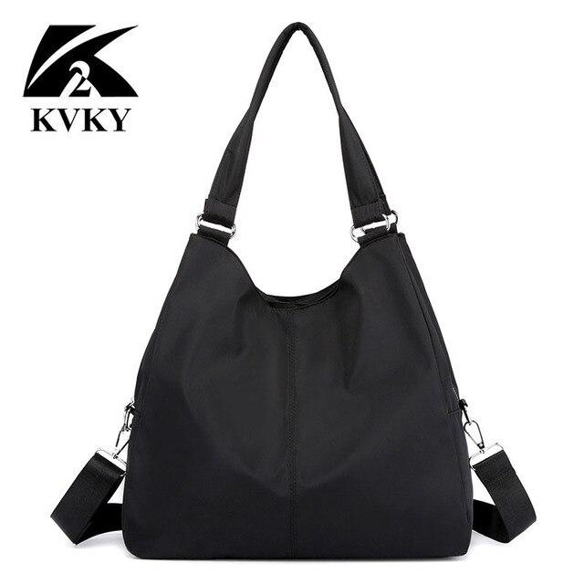 Gorące torebki damskie na co dzień bardzo duże torby na ramię Nylon Tote znane marki fioletowe torebki mumia torby na zakupy wodoodporne bolsas czarne