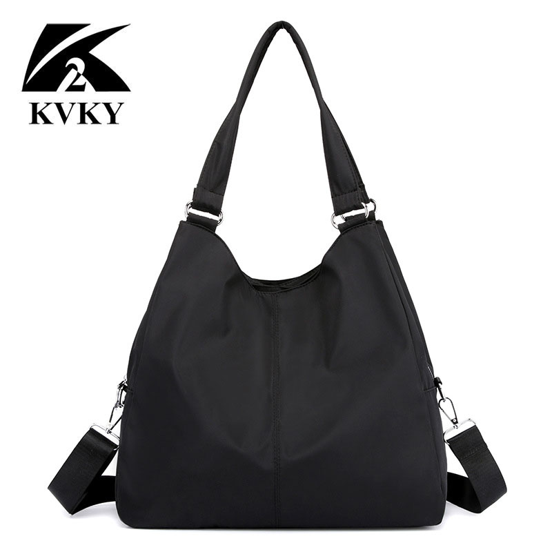 Hot Women Handbag Casual Large Shoulder Bag Nylon Tote Famous Brand Purple Handbags Mummy Shopping Bags Waterproof Bolsas Black