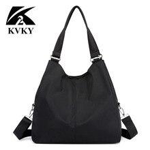 Hot Women Handbag Casual Large Shoulder Bag Nylon Tote Famous Brand Pu
