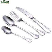 BERGLANDER 24PCS/Set Stainless Steel Cutlery Set Dinnerware Set Western Food Cutlery Tableware Wedding hotel Dinnerware Set