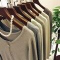 Alta Calidad 2016 Nueva Otoño Invierno Mujeres Lana Tejido de Punto Suéteres de Manga Larga de Cachemira Ocasional Tops Moda Mujer Jerseys VENTA