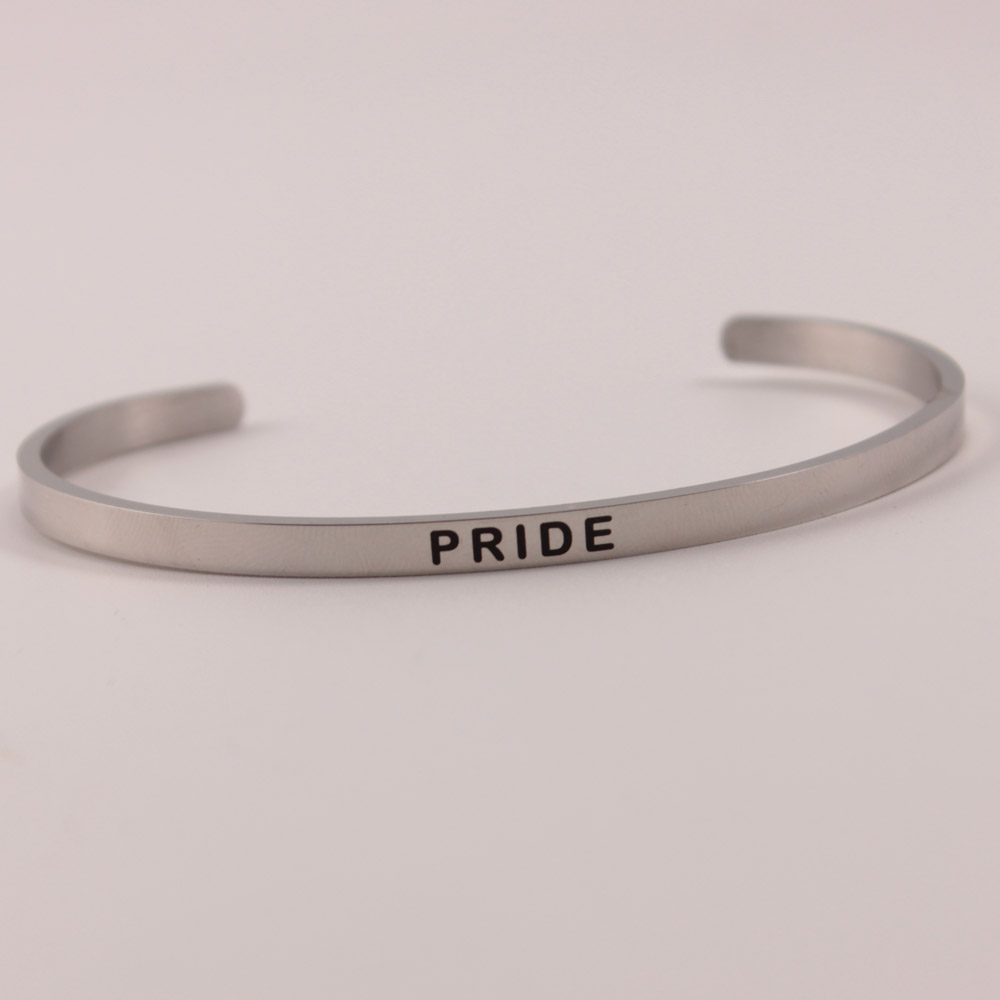 4MM Stainless Steel Bangle Engraved quot PROSECCO QUEEN quot Inspirational Cuff Mantra Bracelets Bangle for Women Men Gift in Bangles from Jewelry amp Accessories