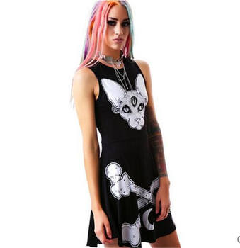 3 Eyes Monster & Bones A-Line Mini Dress 1