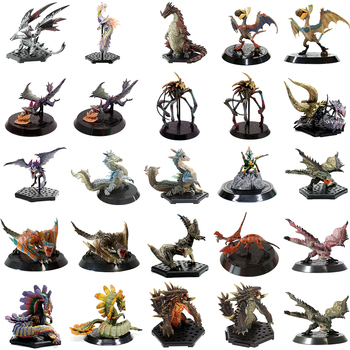 50-73(Jimusuhutu) Japan PS PSP Video Games Capcom Monster Hunter PVC Model Toy Balfalc Tamami Ganototos Daimyo Zazami Figures