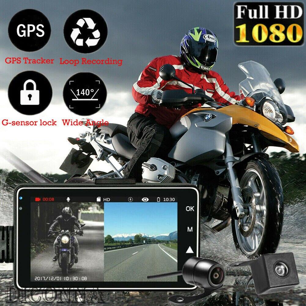"3 ""1080 P HD cámara de motocicleta DVR Motor Dash Cam grabadora de moto  KY MT18"