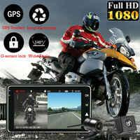 """3 """"1080 P HD moto caméra DVR moteur Dash Cam avec double-piste spécial avant arrière enregistreur moto électronique KY-MT18"""