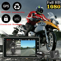 3 1080P HD Motorcycle Camera DVR Motor Dash Cam with Special Dual track Front Rear Recorder Motorbike Electronics KY MT18