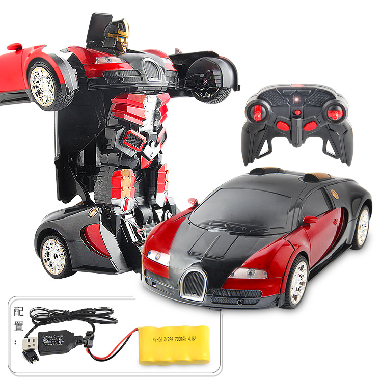2 in 1 Transformation 1:12 Robot to Car 2.4G RC Remote Control Deformation Rechargeable RC Car Toys Boys Gift
