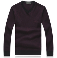 Autumn Winter Christmas Cashmere Sweater Men Pullover Fashion Brand Mens Jumper Plus Size V Neck Mens Sweaters M 7XL 8XL