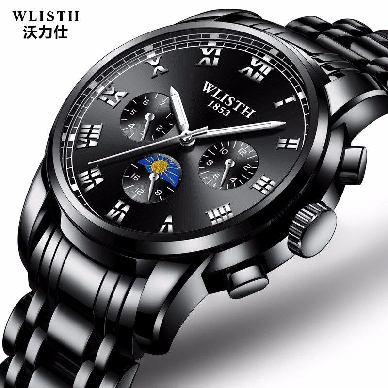 Dropshipping WLISTH Sport Montres Hommes Montres Top Marque De Luxe Militaire Armée Quartz-Montre Homme Horloge Casual Relogio Masculino