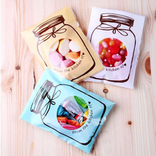 Emerra 100Pcs Bottle pattern biscuit food self-sealed bags of fudge transparent Mini 100 pcs/bags