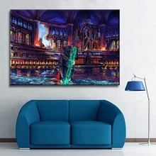 Oil Painting Style Artistic Colorful Knight Sword On Canvas Print Type Poster 1 Piece Home DecorWall One Set Modular Picture