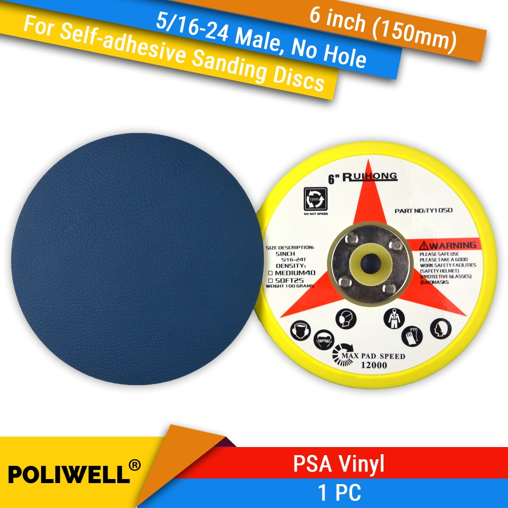7 Inches Sandpaper Disc 80 Grit Hook and Loop Wet and Dry Waterproof Abrasive Sanding Paper PSA NO Hole 10 pcs