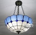 Tiffany Ретро Винтажные подвесные светильники стеклянный абажур Лофт подвесные лампы E27 110V 220V для столовой в средиземноморском стиле