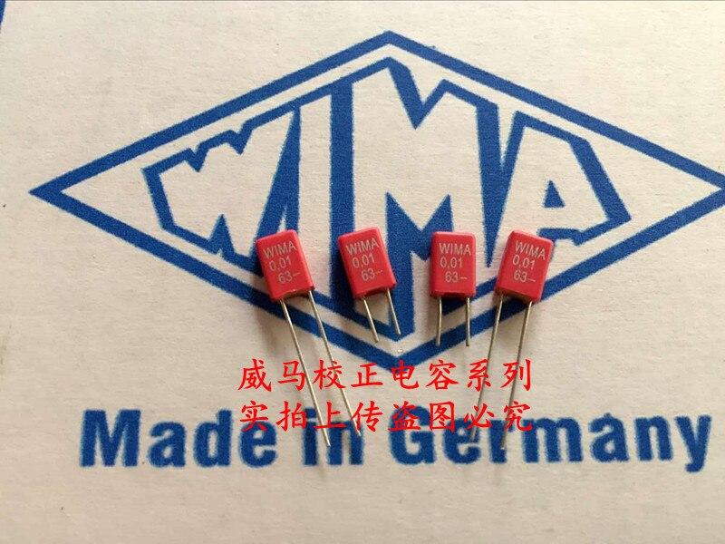 Capacitor de Áudio Venda Quente Pces – 20 Alemanha Wima Capacitor Mks2 63v 0.01uf 103 10nf p: 2.5mm Frete Grátis 2020 10