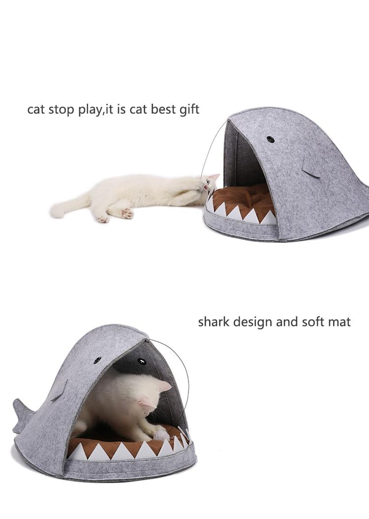 New Style Cat House Shark Shape Dog Beds Warm Soft Cat House Pet Sleeping Bag Cat Kennel Beds For Cat House Nest Mat Pet Product 10