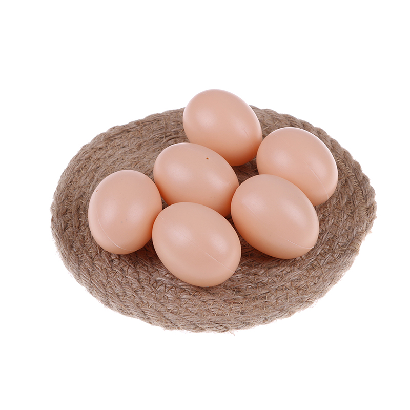 5pcs Hen Poultry Plastic Fake Dummy Egg Chicken Layer Coop Hatching Simulation