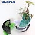 Креативная полукруглая тарелка для фруктов Простой чистый цвет пластиковый цветочный горшок ваза японский стиль икебана растительные пла...