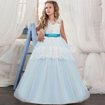 10fcb990b85f Vestido de primavera para niñas 2019 vestido de fiesta de encaje nueva moda  para niñas pequeñas ...