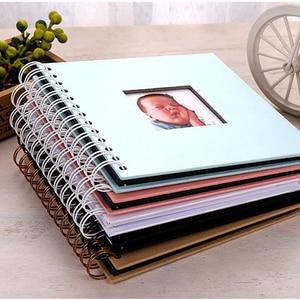 20 Pages DIY Paper Photo Album Photography Baby Scrapbooking Fotograf Albumu Loose-Leaf Fotoalbum Fotoalbum Kids Memory Book
