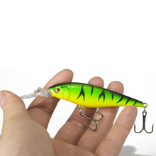 1PCS Fishing Lure Bait Minnow with Treble Hook Isca Artificial Bass Fishing Tackle Sea Japan Fishing Lure 3D Eyes